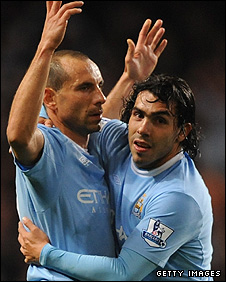 Martin Petrov and Carlos Tevez