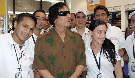 Libyan leader Col Muammar Gaddafi in Margarita, Venezuela (28 Sept 2009)