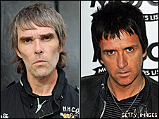 Ian Brown (left) and Johnny Marr