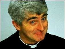 Actor Dermot Morgan as Father Ted