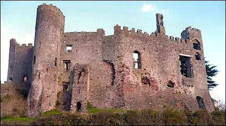 Image of Laugharne Castle taken by Peter Jackson