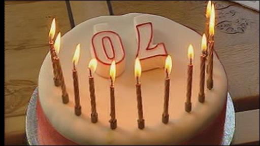 Rhodri Morgan's birthday cake
