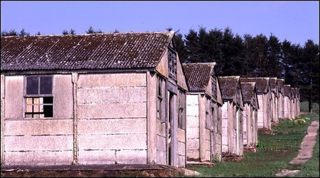 Prisoner of war huts
