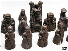 Chess-pieces that belonged to Ingmar Bergman which were auctioned on 28 September 2009