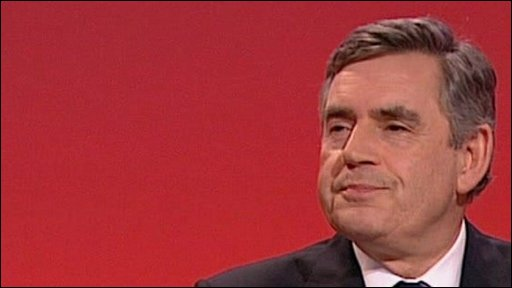 Gordon Brown at Labour conference