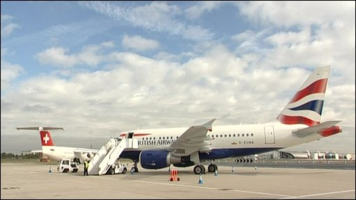 BA aeroplane