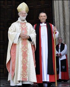The Archbishop of Canterbury with Bishop Alistair Magowan