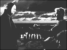 Death (L) plays knight at Chess in The Seventh Seal, pic courtesy of Everett Collection/Rex features