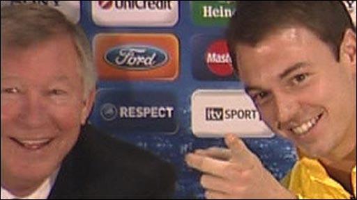 Sir Alex Ferguson & Jonny Evans