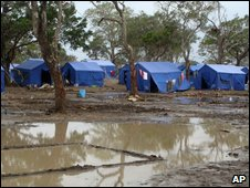 Camp for internally displaced people in Vavuniya