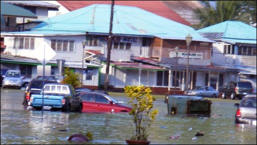 Flooding in Samoa
