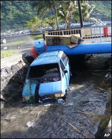 Flood damage in Fagatogo, American Samoa (30 Sept 2009)