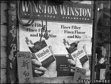 Cigarette advert from 1955