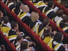 Generic students on graduation day