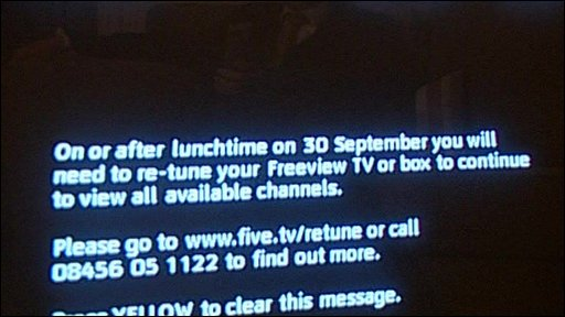 Freeview message
