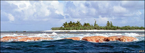 File photo showing an island in American Samoa