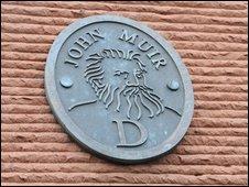 John Muir plaque in Dunbar