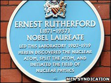 Rutherford building plaque