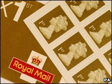 Book of first class stamps