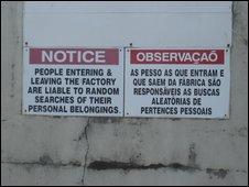 Gort meat factory sign (Pic: Olivia Sheringham)