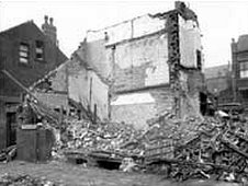 Bomb-damaged Flaxton Terrace