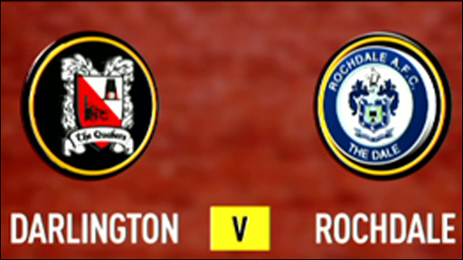 Darlington 0-2 Rochdale