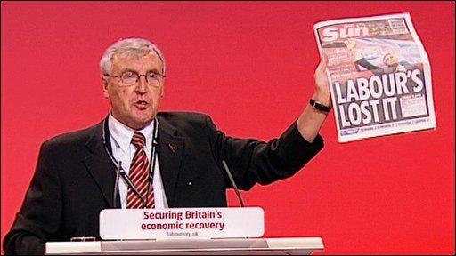 Unite union boss Tony Woodley