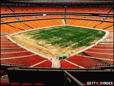 Inside the Soccer City stadium Johannesburg