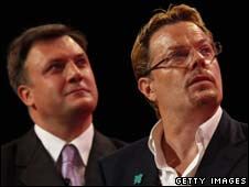 Ed Balls and comedian Eddie Izzard
