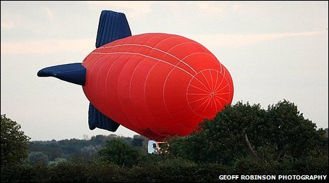 James May's airship crash (picture courtesy of Geoff Robinson Photography)
