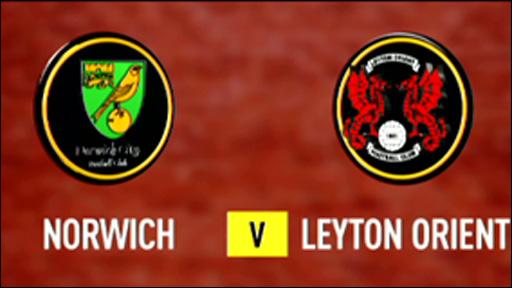 Norwich 4-0 Leyton Orient