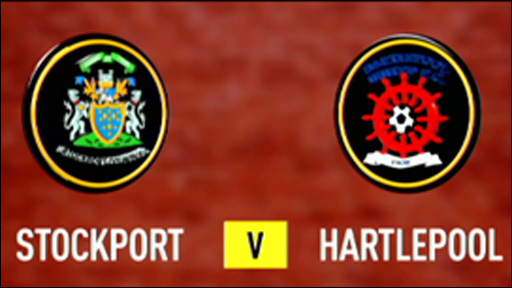 Stockport 2-2 Hartlepool