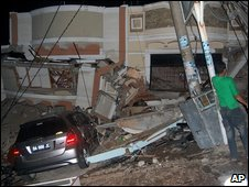 Earthquake damage in Padang, West Sumatra (30 Sept 2009)