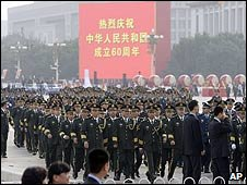 Peoples' Liberation Army marching in Beijing, China (01 October 2009