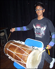 Drumming at the Navratri Festival in Colchester