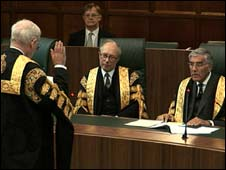 Judges being sworn in at the Supreme Court