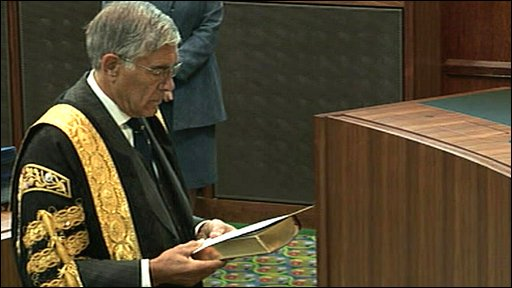 Lord Phillips, president of the new Supreme Court, is sworn in