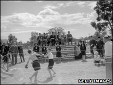 Boxing display by boys from the Fairbridge Farm School, Pinjarra, 1934