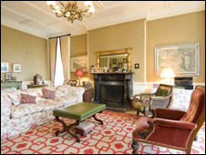 Reception room in Rhydoldog House