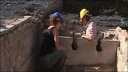 Rome excavation