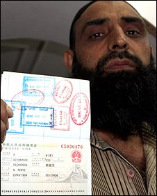 Kashmiri man with Chinese visa