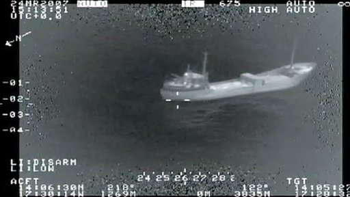 Surveillance picture of migrant boat