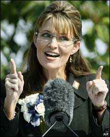 Sarah Palin in Fairbanks, Alaska, July 26