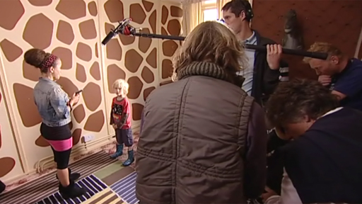 Crew recording scene for Tracy Beaker Returns