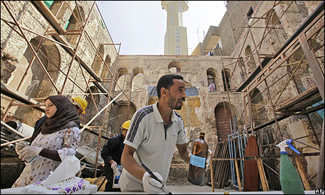 Restoration work at a Synagogue in Cairo
