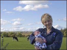 Cathernie Douglas and baby Flora
