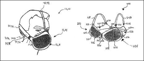 Sketch of gas mask bra
