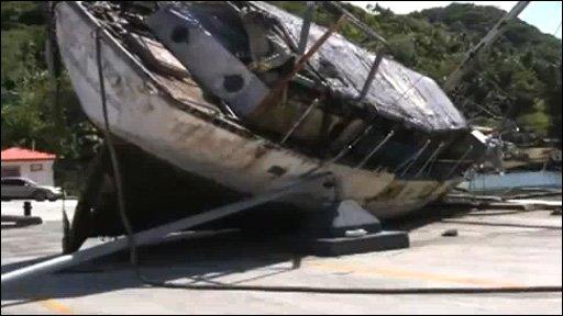 Samoa tsunami aftermath