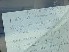 Note on car