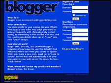 Blogger front page 1990